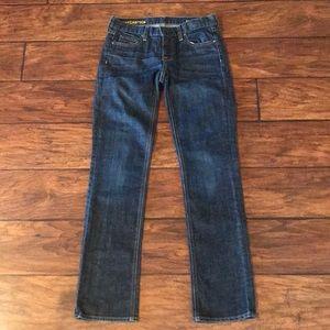 J. Crew Matchstick Dark Wash Jeans Size 26S